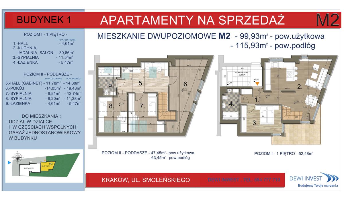 Mieszkanie w inwestycji Apartamenty nad Wilgą, Kraków, 100 m² | Morizon.pl | 5760