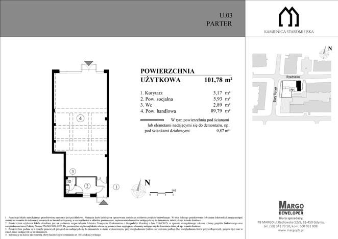 Komercyjne w inwestycji Kamienica Staromiejska, Elbląg, 102 m² | Morizon.pl | 1315