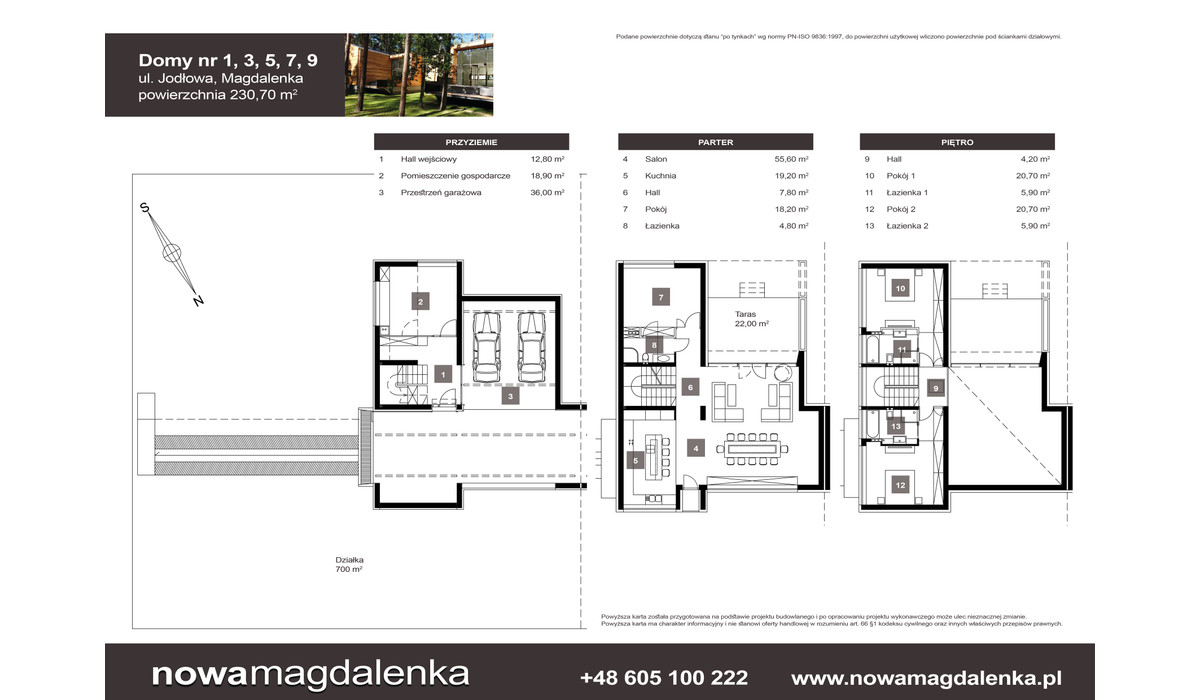 Dom w inwestycji Nowa Magdalenka, Magdalenka, 231 m² | Morizon.pl | 2208