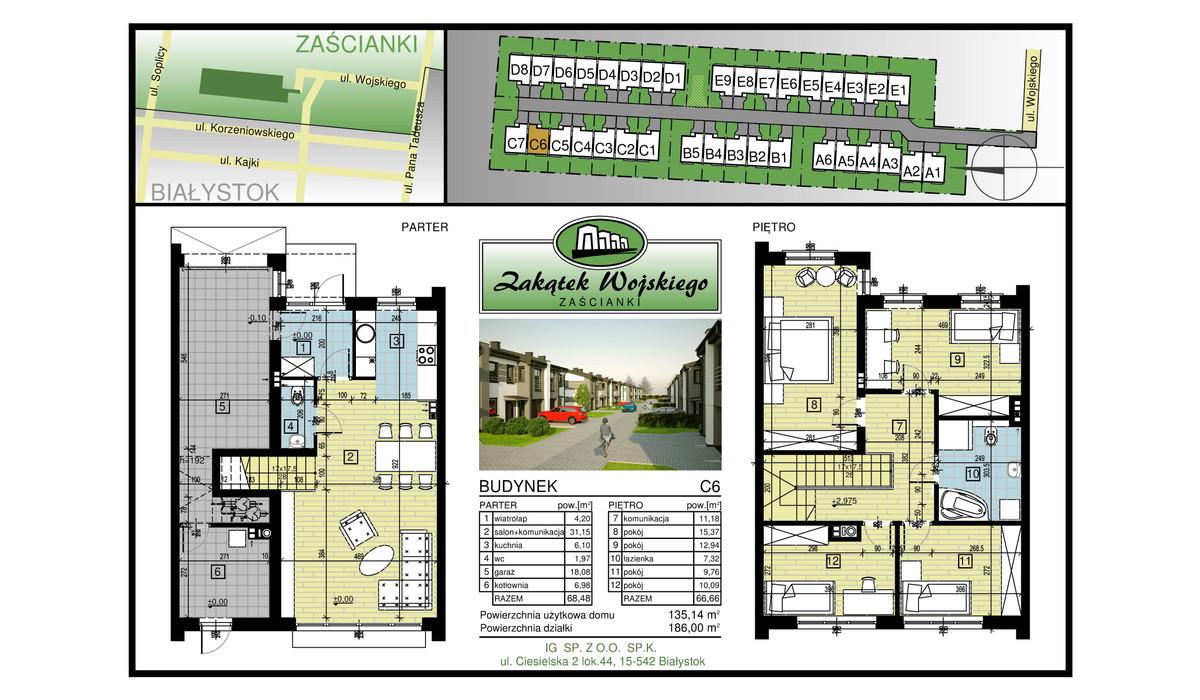 Dom w inwestycji Zakątek Wojskiego, Białystok, 135 m² | Morizon.pl | 5477