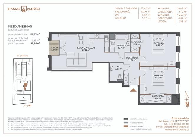 Mieszkanie w inwestycji Browar Kleparz, Kraków, 89 m² | Morizon.pl | 5958