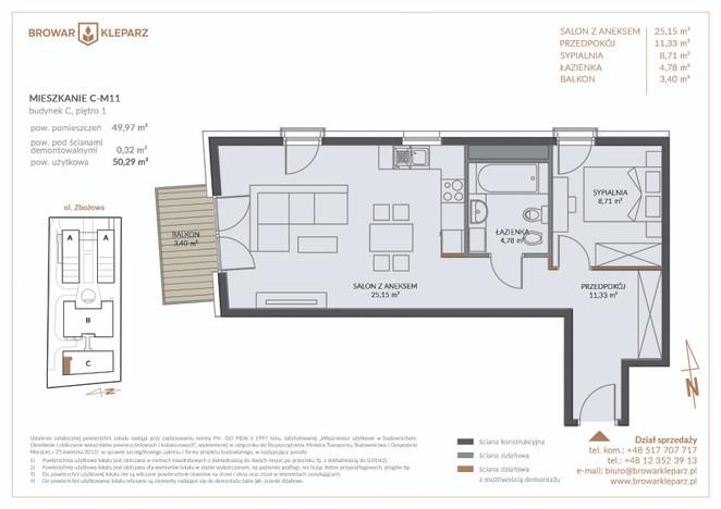 Mieszkanie w inwestycji Browar Kleparz, Kraków, 50 m² | Morizon.pl | 5971