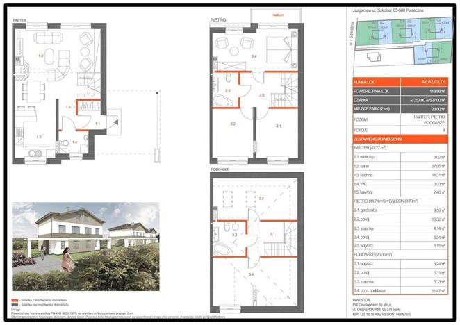 Dom w inwestycji Jazgarzew - domy, Jazgarzew, 119 m² | Morizon.pl | 6815