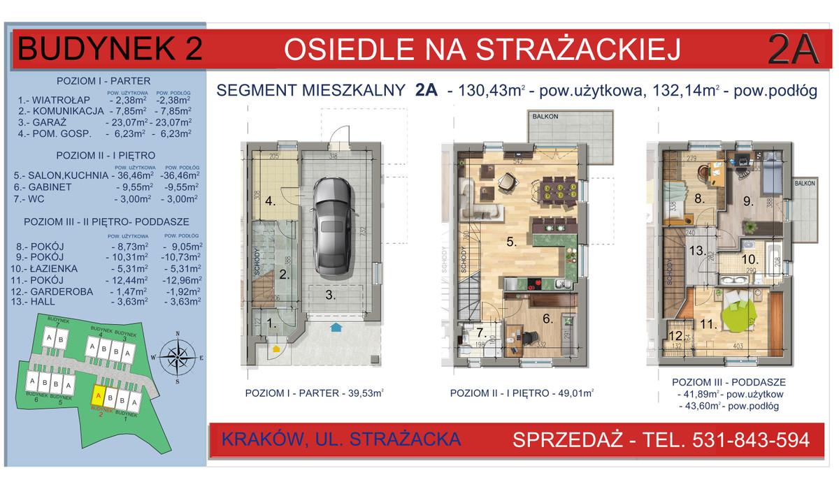 Dom w inwestycji Osiedle na Strażackiej, Kraków, 130 m² | Morizon.pl | 2158