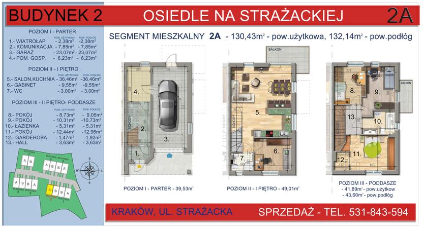 Dom w inwestycji Osiedle na Strażackiej, Kraków, 130 m²   Morizon.pl   2158