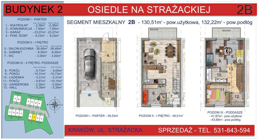 Dom w inwestycji Osiedle na Strażackiej, Kraków, 130 m² | Morizon.pl | 2159