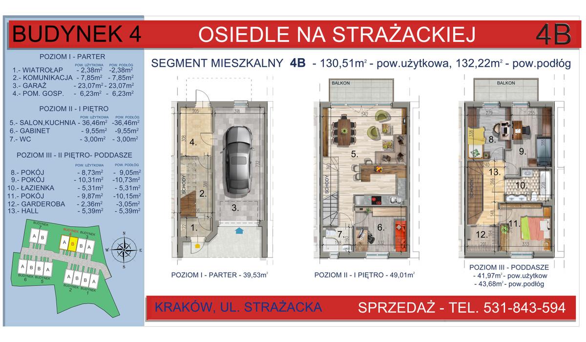 Dom w inwestycji Osiedle na Strażackiej, Kraków, 130 m² | Morizon.pl | 2163