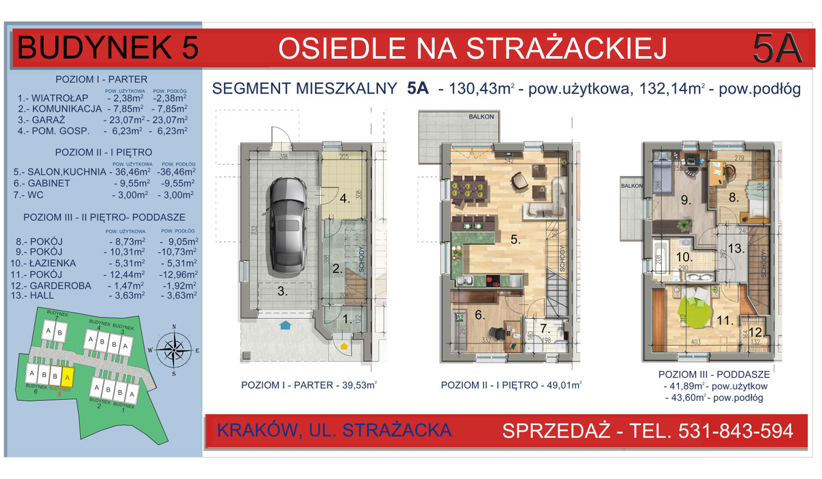 Dom w inwestycji Osiedle na Strażackiej, Kraków, 130 m² | Morizon.pl | 2164