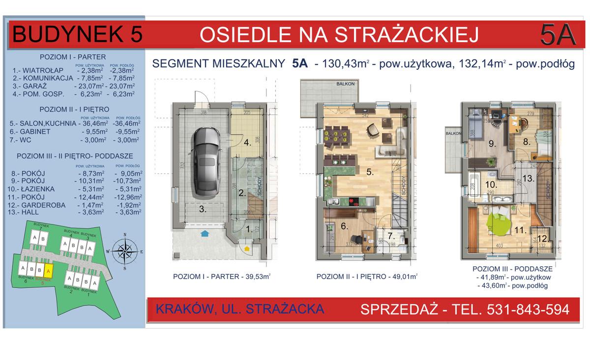 Dom w inwestycji Osiedle na Strażackiej, Kraków, 130 m²   Morizon.pl   2164