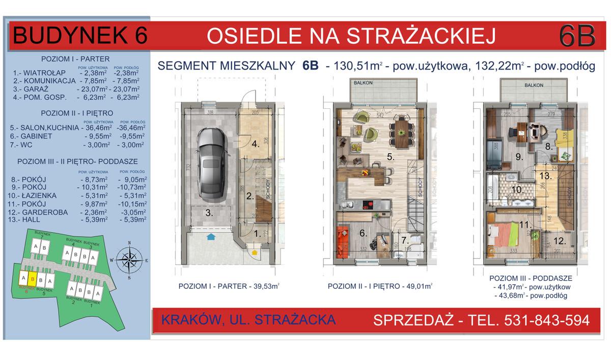 Dom w inwestycji Osiedle na Strażackiej, Kraków, 130 m²   Morizon.pl   2167