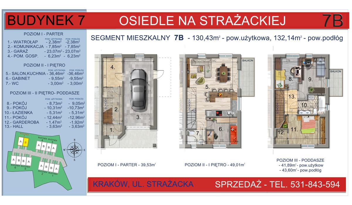 Dom w inwestycji Osiedle na Strażackiej, Kraków, 130 m² | Morizon.pl | 2169
