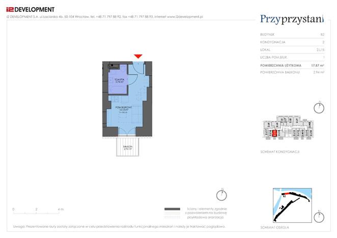 Mieszkanie w inwestycji Przy przystani, Wrocław, 18 m² | Morizon.pl | 7350