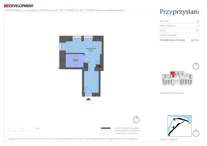 Mieszkanie w inwestycji Przy przystani, Wrocław, 26 m²   Morizon.pl   7355