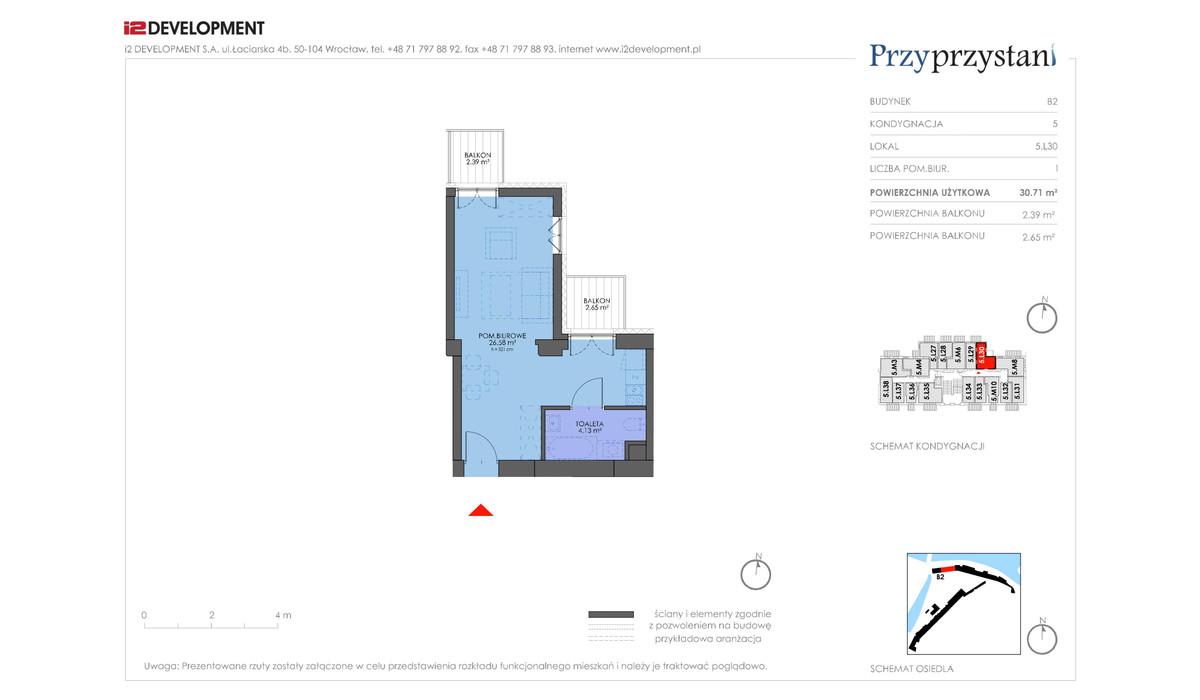 Mieszkanie w inwestycji Przy przystani, Wrocław, 31 m² | Morizon.pl | 7370