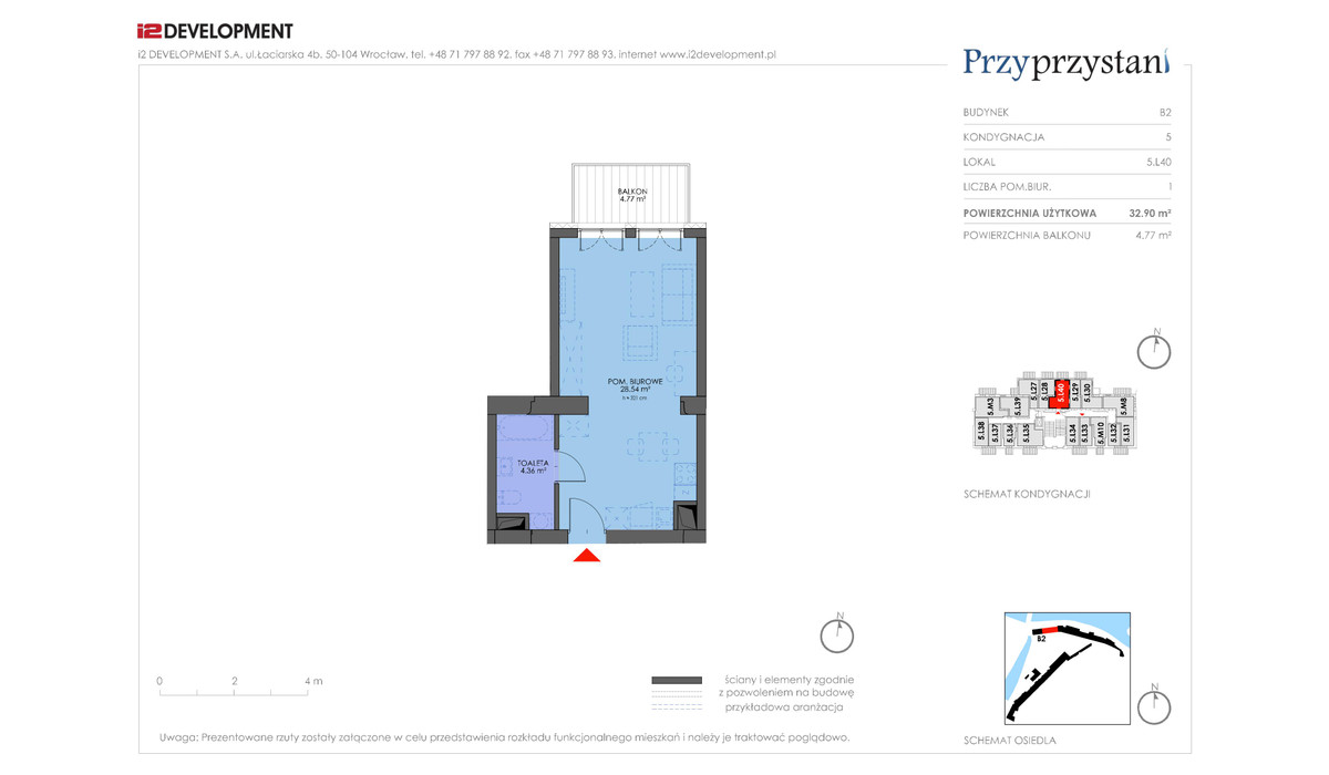 Mieszkanie w inwestycji Przy przystani, Wrocław, 33 m² | Morizon.pl | 7380