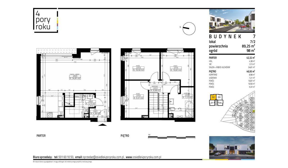 Dom w inwestycji Osiedle 4 Pory Roku, Gowarzewo, 89 m²   Morizon.pl   1061