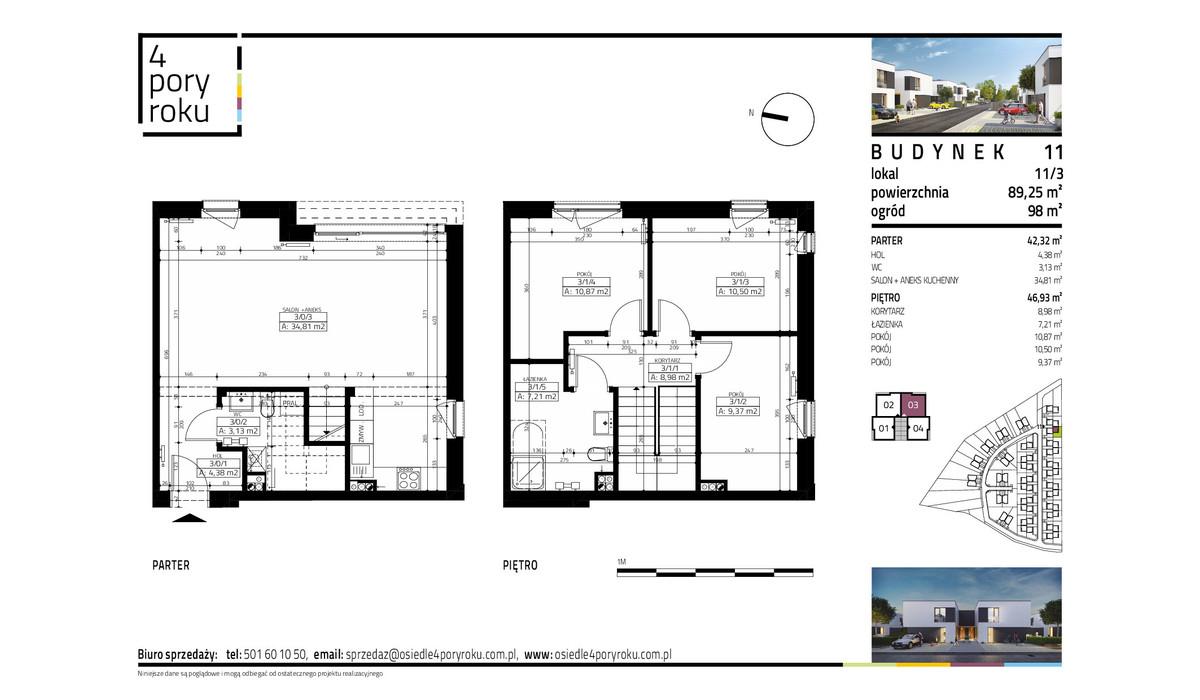 Dom w inwestycji Osiedle 4 Pory Roku, Gowarzewo, 89 m² | Morizon.pl | 1076