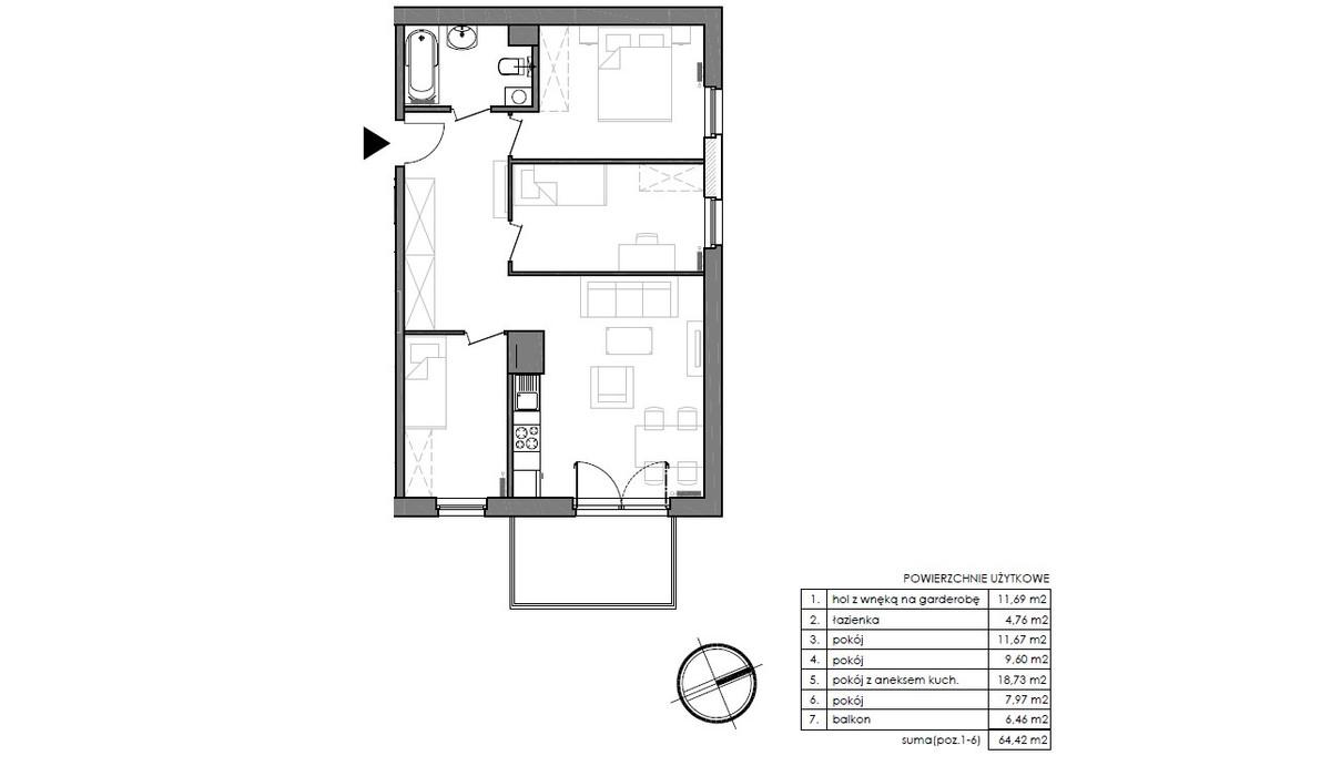 Mieszkanie w inwestycji Signum, Gdynia, 67 m² | Morizon.pl | 0151