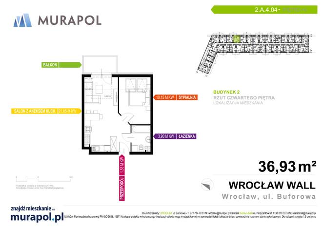 Mieszkanie w inwestycji Murapol Zielona Toskania, Wrocław, 37 m²   Morizon.pl   3842