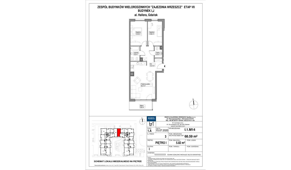Mieszkanie w inwestycji Zajezdnia Wrzeszcz, Gdańsk, 69 m² | Morizon.pl | 2283