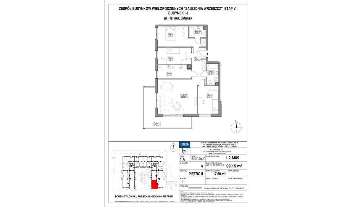 Mieszkanie w inwestycji Zajezdnia Wrzeszcz, Gdańsk, 99 m²   Morizon.pl   2204
