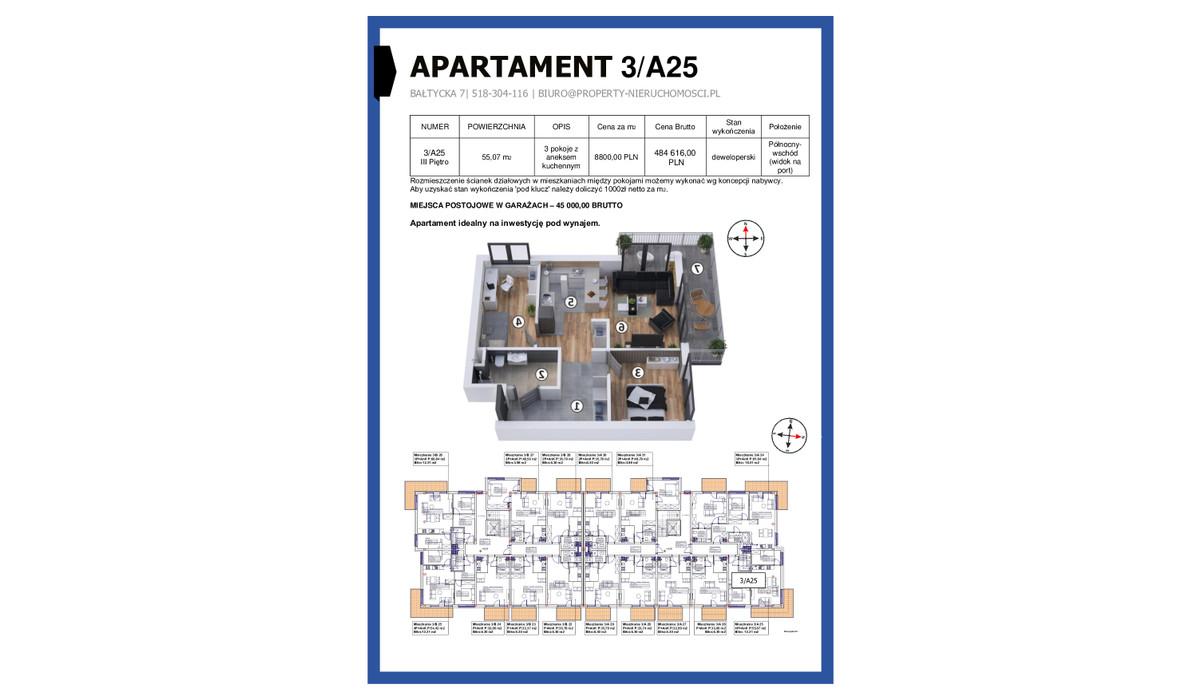 Mieszkanie w inwestycji KAPITAŃSKI MOSTEK, Kołobrzeg, 55 m² | Morizon.pl | 4664
