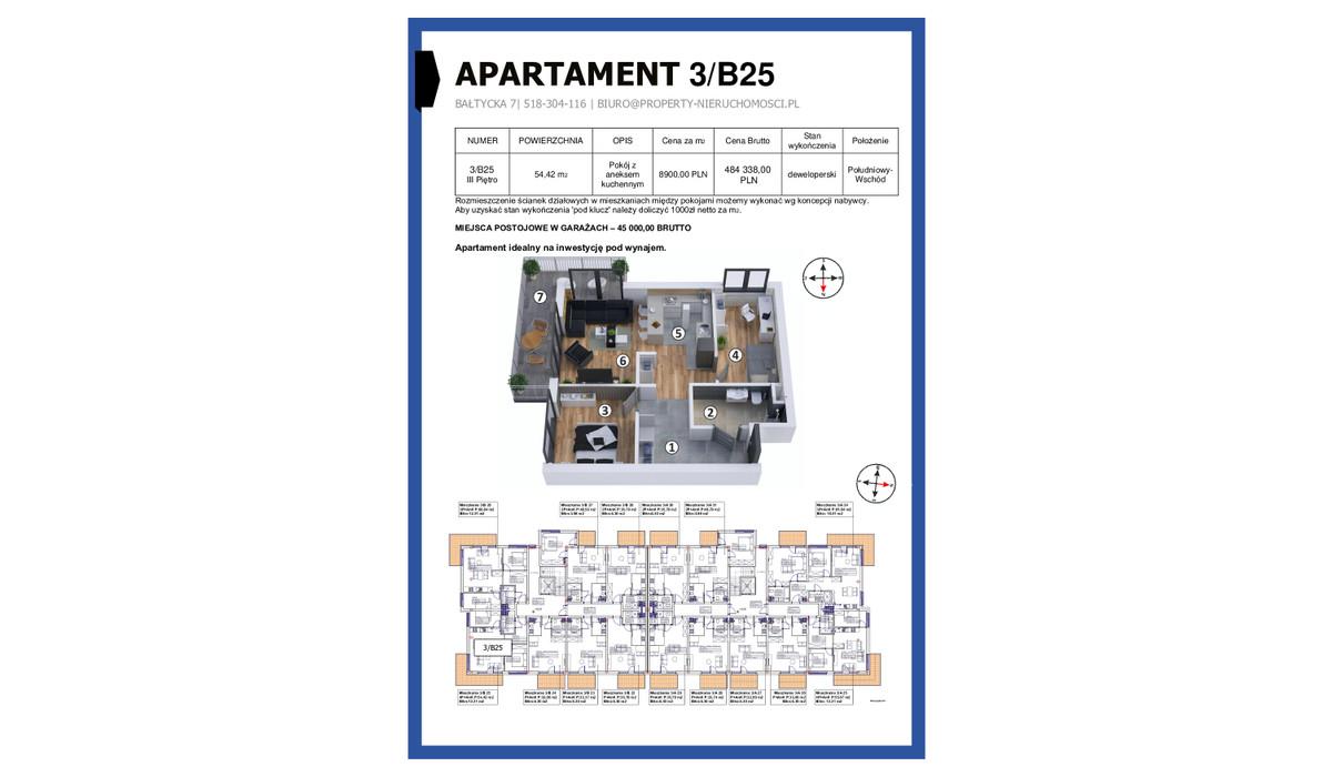Mieszkanie w inwestycji KAPITAŃSKI MOSTEK, Kołobrzeg, 54 m² | Morizon.pl | 4653