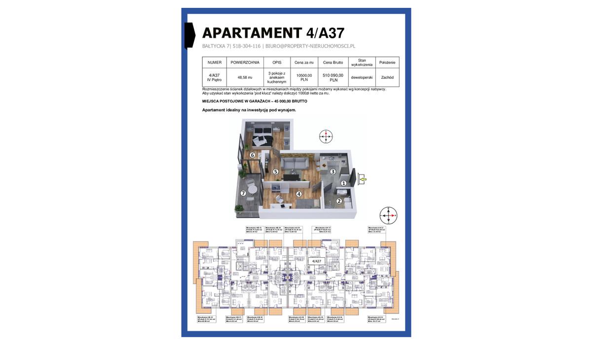 Mieszkanie w inwestycji KAPITAŃSKI MOSTEK, Kołobrzeg, 49 m² | Morizon.pl | 4662
