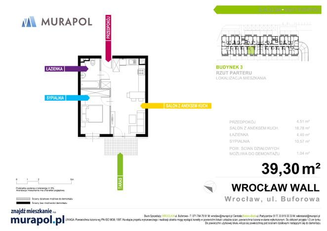 Mieszkanie w inwestycji Murapol Zielona Toskania, Wrocław, 38 m²   Morizon.pl   3873