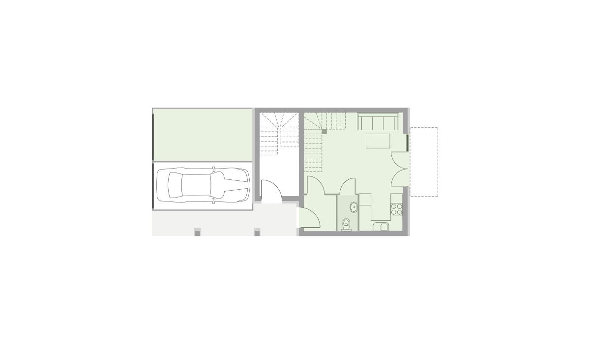 Dom w inwestycji Domy Dachowa, Dachowa, 58 m² | Morizon.pl | 9645