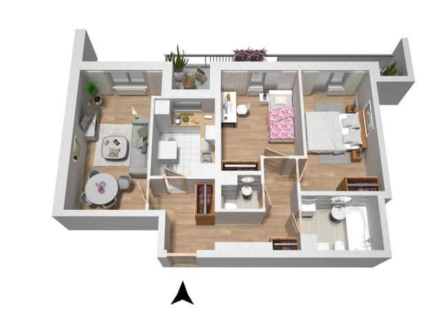 Mieszkanie w inwestycji Turniejowa B2, Kraków, 71 m²   Morizon.pl   0467