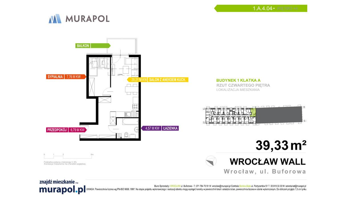Mieszkanie w inwestycji Murapol Zielona Toskania, Wrocław, 39 m² | Morizon.pl | 7095