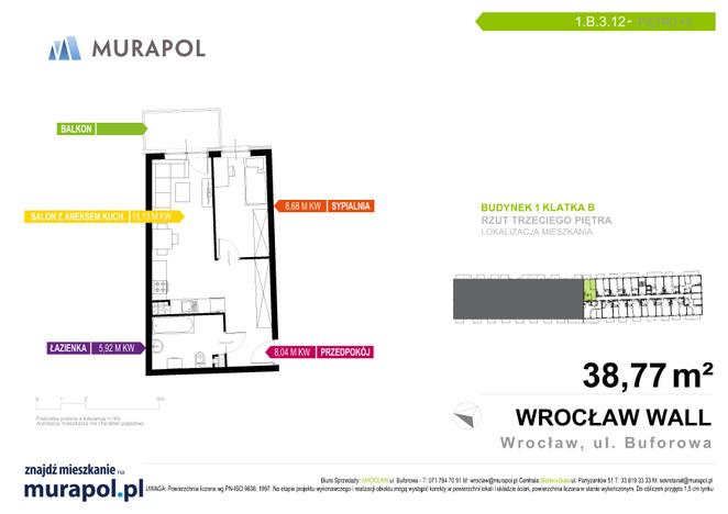 Mieszkanie w inwestycji Murapol Zielona Toskania, Wrocław, 39 m²   Morizon.pl   7162