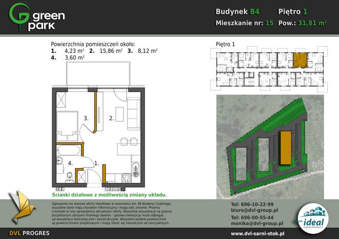 Mieszkanie w inwestycji Nowe Apartamenty Green Park, Bielsko-Biała, 32 m² | Morizon.pl | 2645