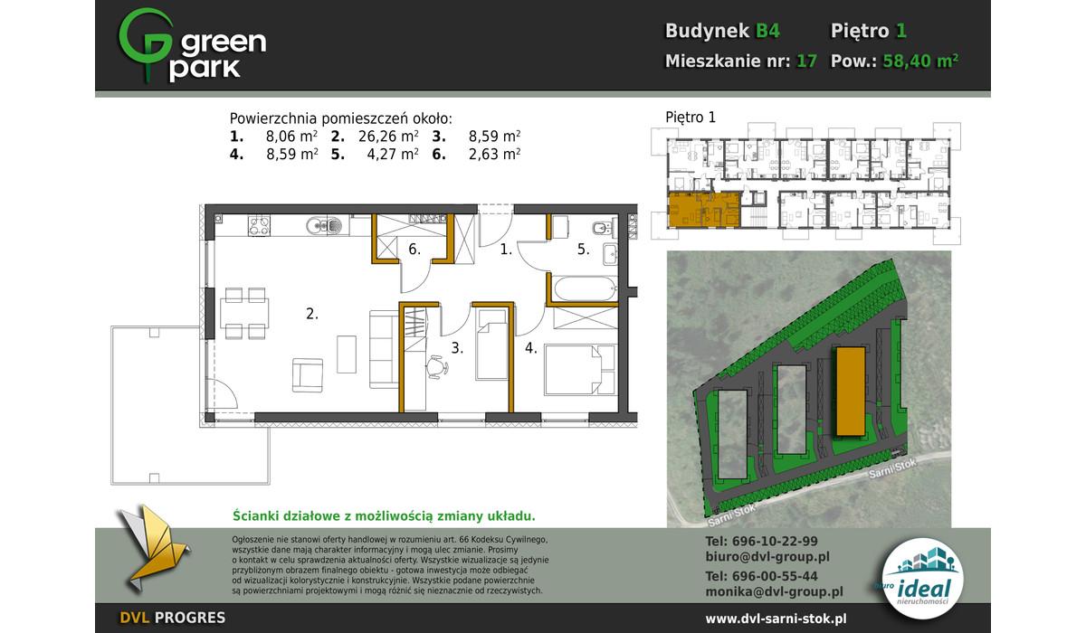 Mieszkanie w inwestycji Nowe Apartamenty Green Park, Bielsko-Biała, 58 m² | Morizon.pl | 2691