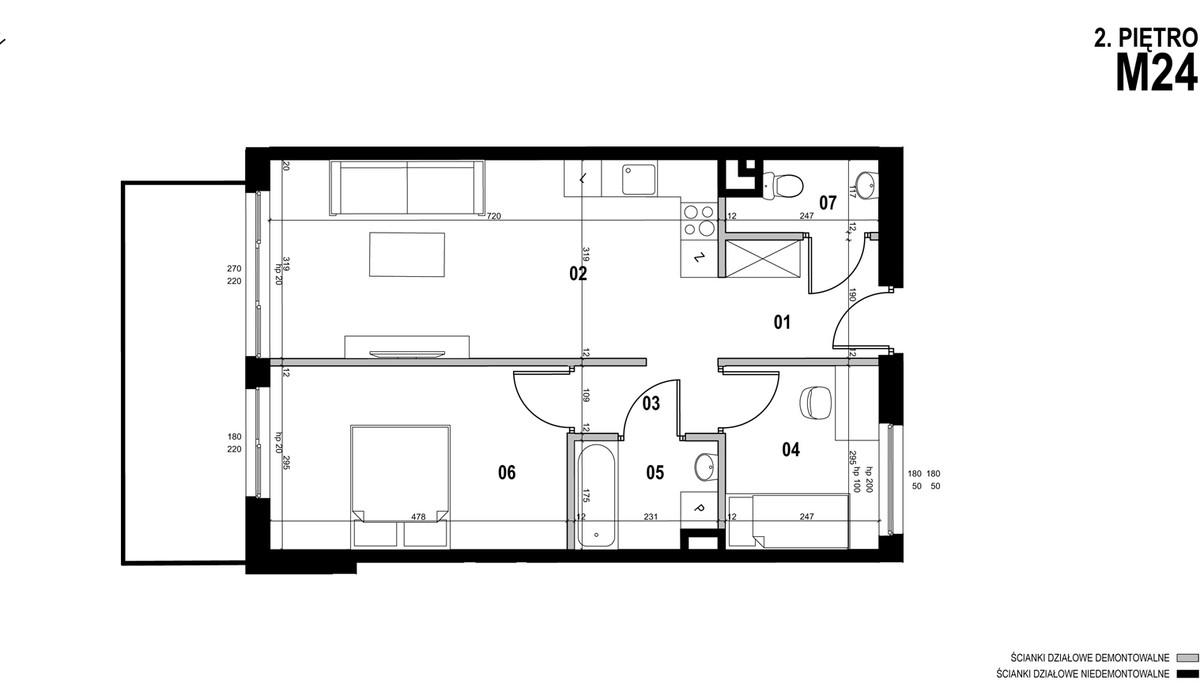 Mieszkanie w inwestycji MEHOFFERA, Warszawa, 60 m² | Morizon.pl | 1023