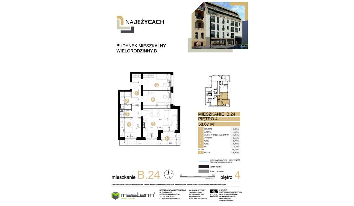 Mieszkanie w inwestycji NA JEŻYCACH, Poznań, 59 m² | Morizon.pl | 1034