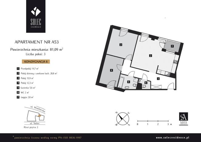 Mieszkanie w inwestycji Solec Residence, Warszawa, 81 m²   Morizon.pl   6057