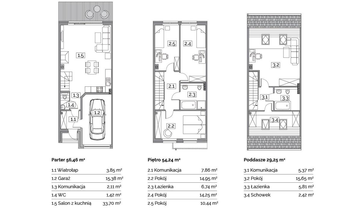 Dom w inwestycji Osiedle Na Wspólnej, Radomierzyce, 141 m² | Morizon.pl | 2895