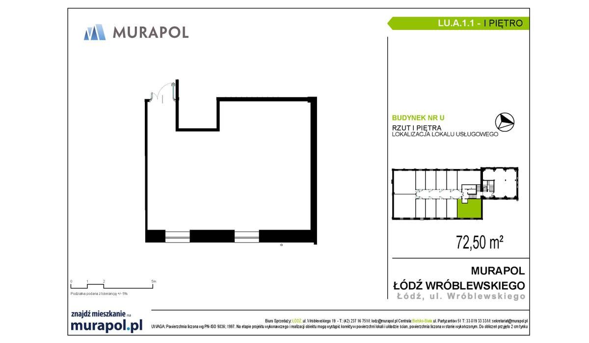 Komercyjne w inwestycji Nowa Przędzalnia - lokale usługowe, Łódź, 73 m² | Morizon.pl | 1054