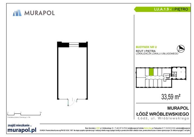 Komercyjne w inwestycji Nowa Przędzalnia - lokale usługowe, Łódź, 34 m² | Morizon.pl | 1066