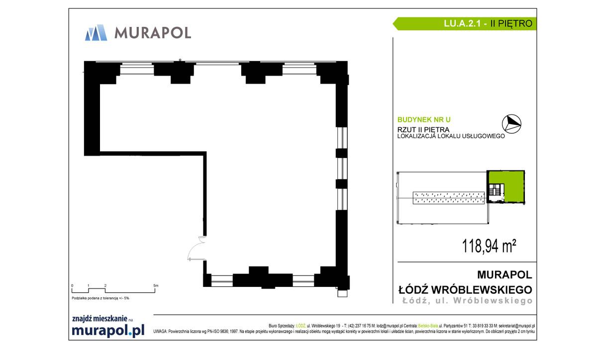 Komercyjne w inwestycji Nowa Przędzalnia - lokale usługowe, Łódź, 119 m² | Morizon.pl | 1067