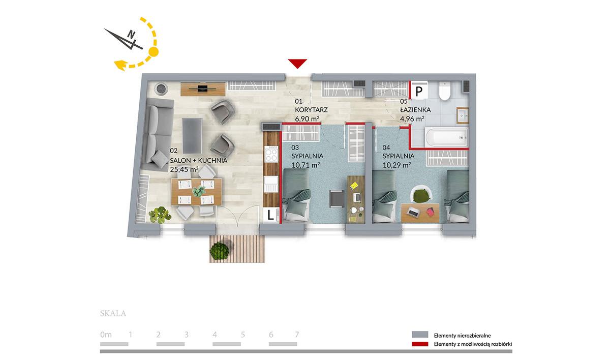 Mieszkanie w inwestycji Willa Słonimska, Białystok, 58 m² | Morizon.pl | 0515