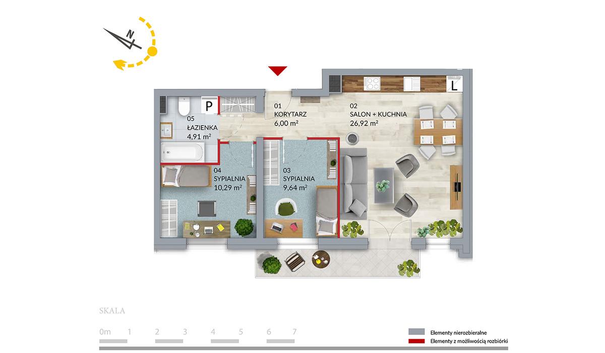 Mieszkanie w inwestycji Willa Słonimska, Białystok, 57 m² | Morizon.pl | 0510