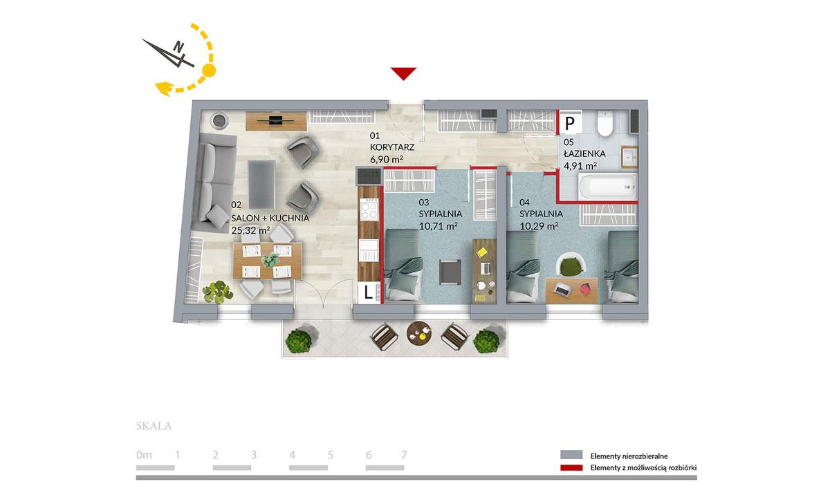 Mieszkanie w inwestycji Willa Słonimska, Białystok, 58 m² | Morizon.pl | 0509