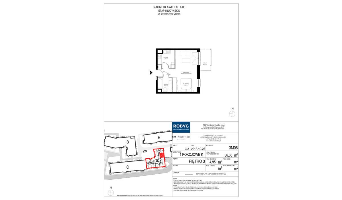 Mieszkanie w inwestycji Nadmotławie Estate, Gdańsk, 36 m² | Morizon.pl | 4253