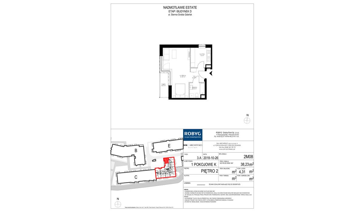 Mieszkanie w inwestycji Nadmotławie Estate, Gdańsk, 38 m² | Morizon.pl | 4244