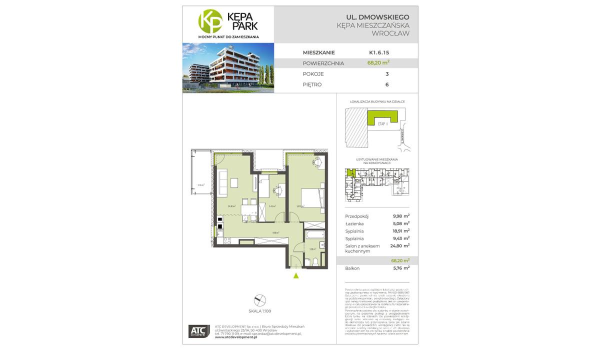 Mieszkanie w inwestycji Kępa Park, Wrocław, 68 m²   Morizon.pl   9096
