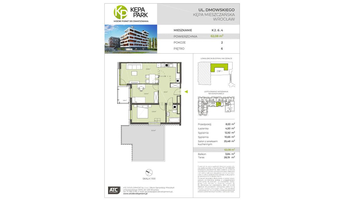 Mieszkanie w inwestycji Kępa Park, Wrocław, 62 m²   Morizon.pl   9131