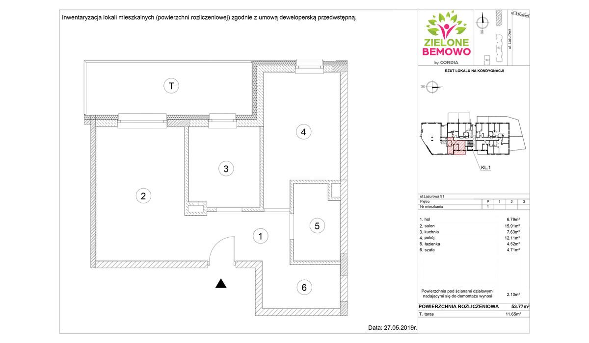 Mieszkanie w inwestycji Zielone Bemowo, Warszawa, 54 m²   Morizon.pl   8466